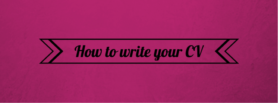 how to write your cv